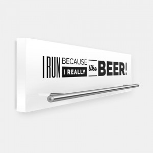 I run because I really like beer!